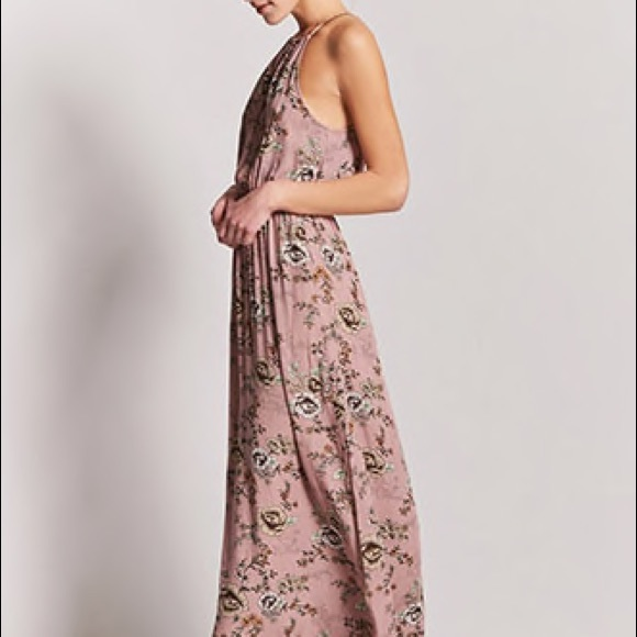 8596166a5 Forever 21 Dresses | Nwt Rose Floral High Neck Maxi Dress | Poshmark